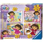 Dora 4 Puzzle da 12, 16, 20 e 24 pezzi (07133)