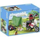 Motociclista in campeggio (5438)