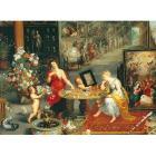 6000 pezzi - Bruegel - Allegoria della vista e dell'olfatto (36515)
