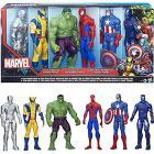 Marvel titan heroes. Hulk, Ultron, Wolverine, Iron Man, Spider-Man, Captain America,