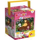 Puzzle + Color Fustino Maxi 48 Masha e Orso sul prato