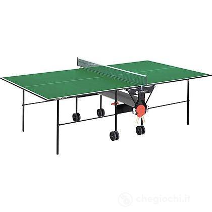 Tavolo ping pong training Indoor con ruote verde