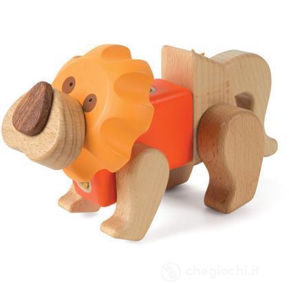 Leone in legno (EQ33571)