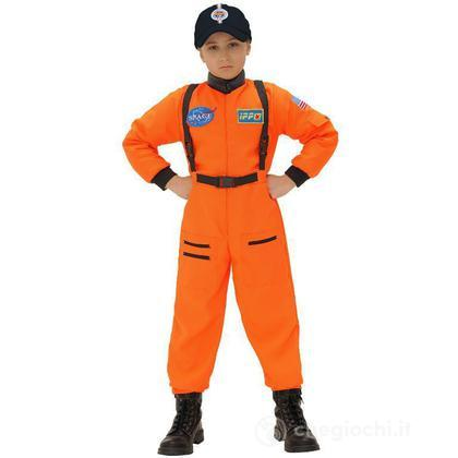 Costume Astronauta Arancio 128 cm (11016)