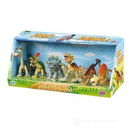 Set 6 pezzi Dinosauri Funny