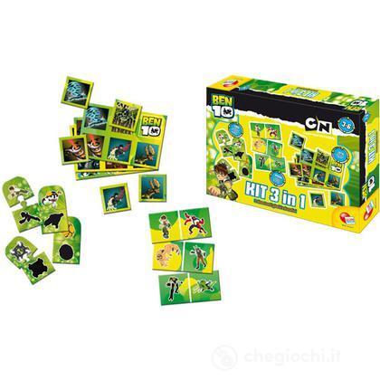 Ben 10 gioco kit 3 in 1 giochi da tavolo lisciani - Domino gioco da tavolo ...
