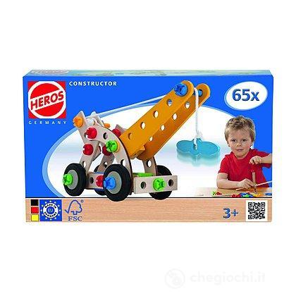Heros Constructor 65 pezzi costruibile gru, aereo, elicottero, triciclo (100039022)