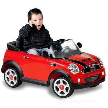 Auto Elettrica Mini Cooper rossa con Radiocomando, 6 Volt (001022-R0)