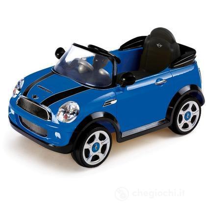 Auto Elettrica Mini Cooper blu con Radiocomando, 6 Volt (001022-BL0)