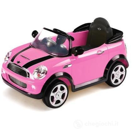 Auto Elettrica Mini Cooper S rosa con Radiocomando 6 Volt