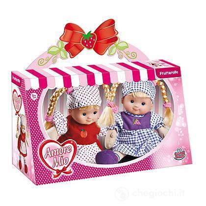 Confezione Due Bambole Morbide 30Cm
