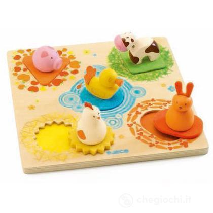 Puzzle 3D Duck & friends (DJ01030)