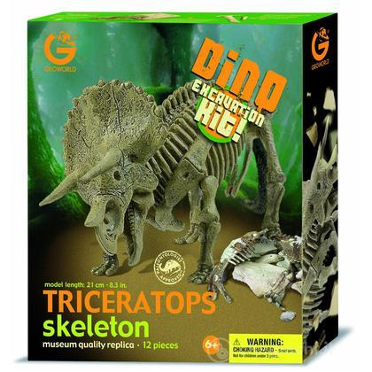 Excavation Kit Triceratops Scheletro