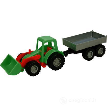 Mini trattore con rimorchio