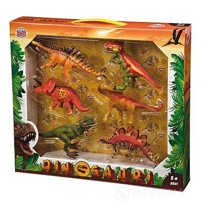 Set 6 Dinosauri Da 18.5 A 21 cm