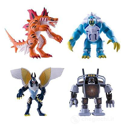 Invizimals pack 4 figure articolate Tigershark, Icelion, Uberjackal, Vortex (30503)