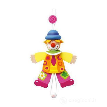 Burattino clown cravatta