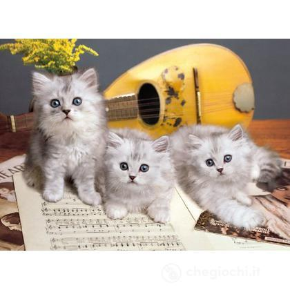 Puzzle 1000 pezzi Musician cats (39059)