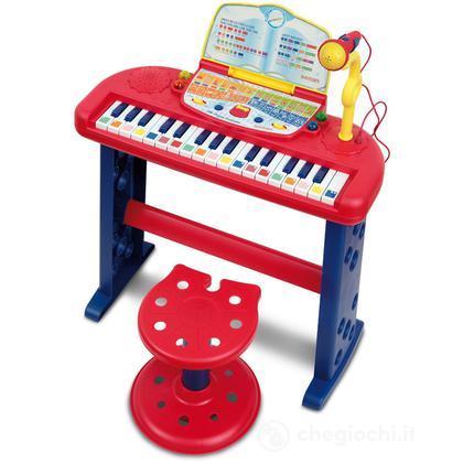 Organo Elettronico Parlante a 32 Tasti Con Microfono e Sgabello Regolabile In Altezza (SN3650)