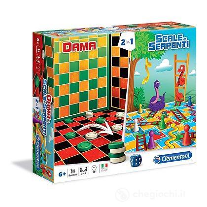 Dama & Scale e Serpenti, Giochi da Tavolo 2 in 1