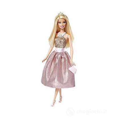 Barbie principessa al party - Barbie abito rosa e oro (T7591)