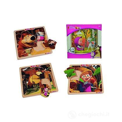 Masha e L'orso Puzzle 8 pezzi Legno