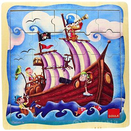 Puzzle 25 pezzi Nave Pirata (53099)