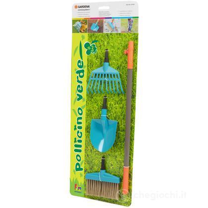 Set rastrello, pala e scopa giardino