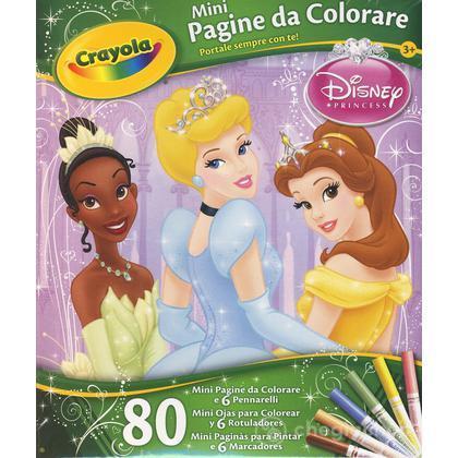 Mini pagine da colorare Principesse Disney
