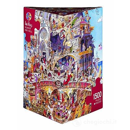 Puzzle 1500 Pezzi Triangolare - Paradiso e Inferno
