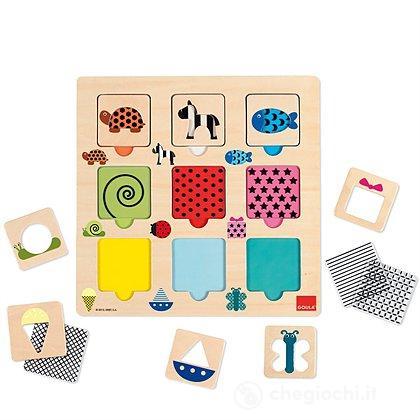 Puzzle tessiture colori e trasparenze