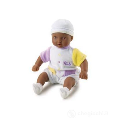 Bambola mulatta 20 cm Tutina bianca