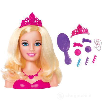 Testa di Barbie con accessori