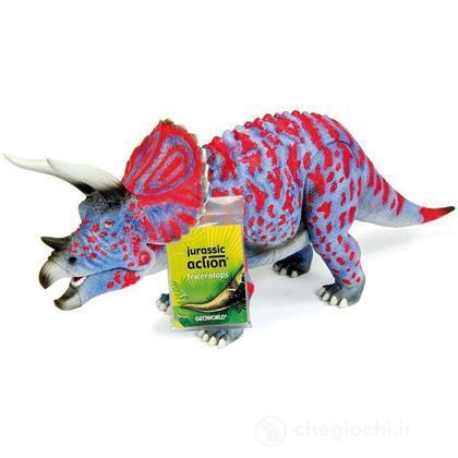 Triceratopo blu rosso