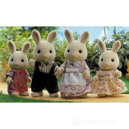Famiglia conigli latte
