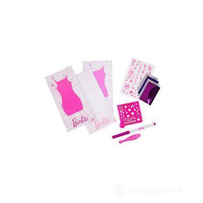 Kit di Ricarica Barbie Disegna lo Stile - Rosa (W3916)