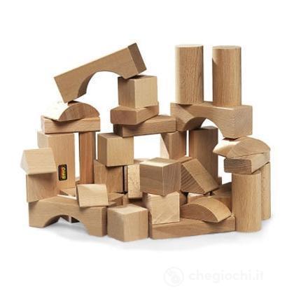 50 blocchi legno naturale
