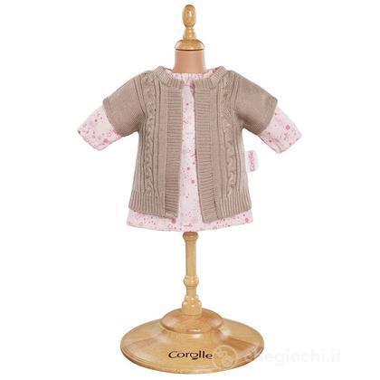 Vestito rosa & cardigan (Y7409)