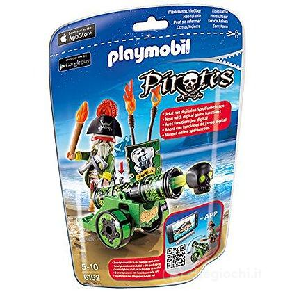 Capitano dei pirati con App cannon verde (6162)