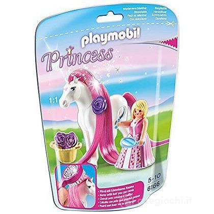 Principessa Rosalie con pony dalla lunga chioma (6166)