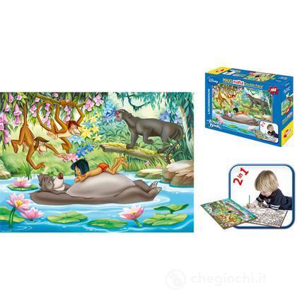 Puzzle df supermaxi 108 Libro giungla