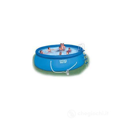 Piscina Easy Set 457X122 cm, Pompa Filtro, Scaletta, Telo Base, Copert (28168)