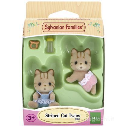 Gemelli gatti striati (5188)