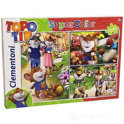 Topo tip puzzle 3x48 pezzi 25201 puzzle classici for Topo tip giocattoli