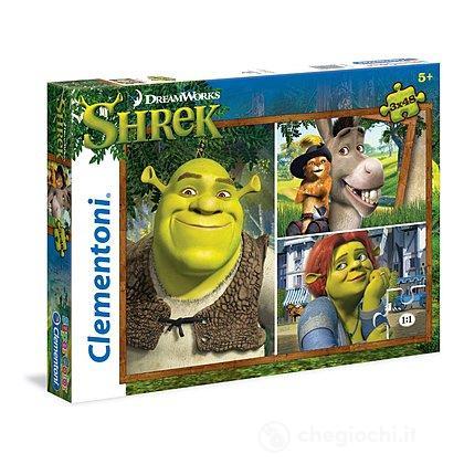 Shrek Puzzle 3x48 pezzi (25208)