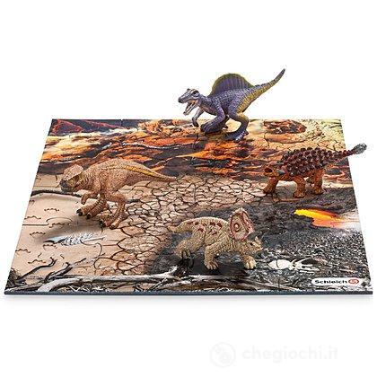 Mini dinosauri con Puzzle Lava (42212)
