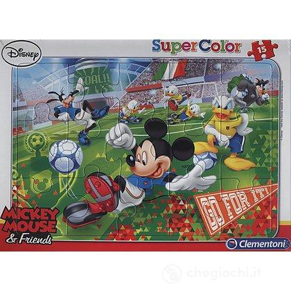 Puzzle Cornice 15pz Mickey sport (22222)