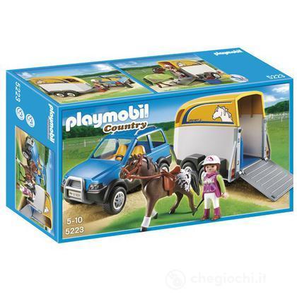 SUV con trasporto cavalli (5223)