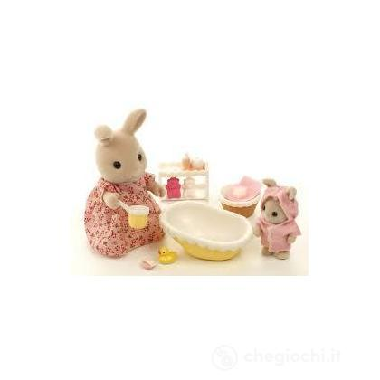 Set bagno 2 personaggi 2228 playset e bambole in miniatura sylvanian families - Bagno in miniatura ...