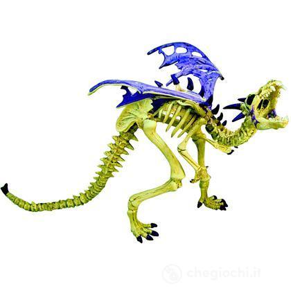 Drago scheletro viola